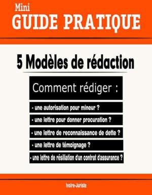 modèles de rédaction
