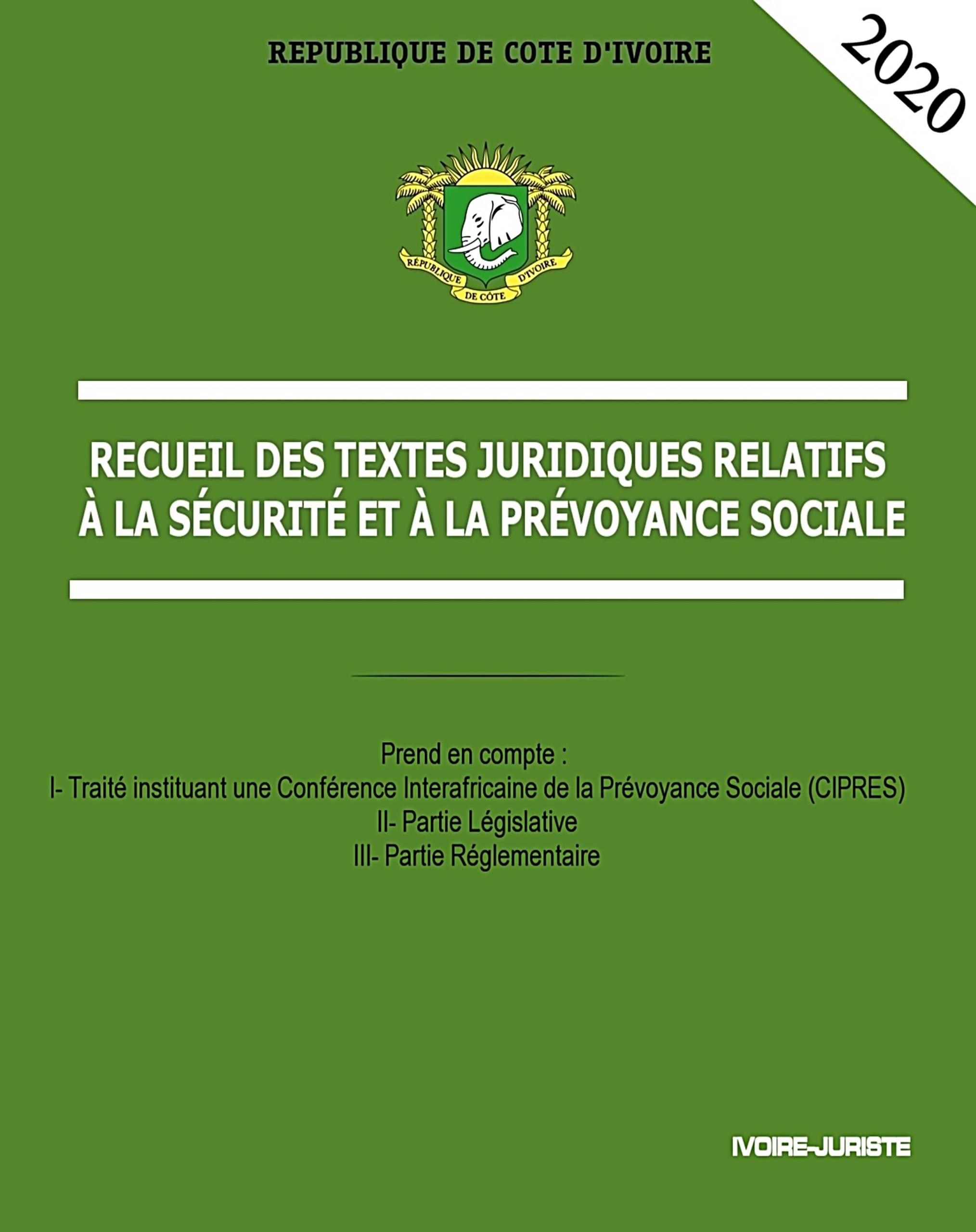 Textes Juridiques relatifs à la sécurité et la prévoyance sociale