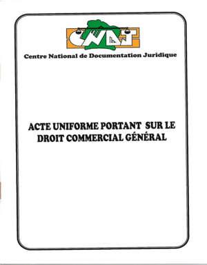 Acte Uniforme relatif au Droit Commerciale Général