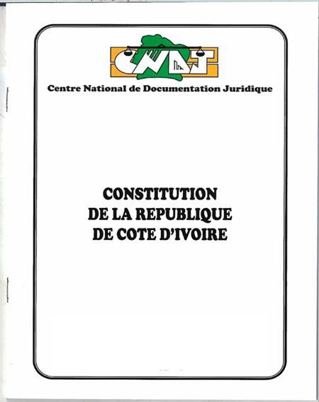 Constitution de la République de Côte d'Ivoire