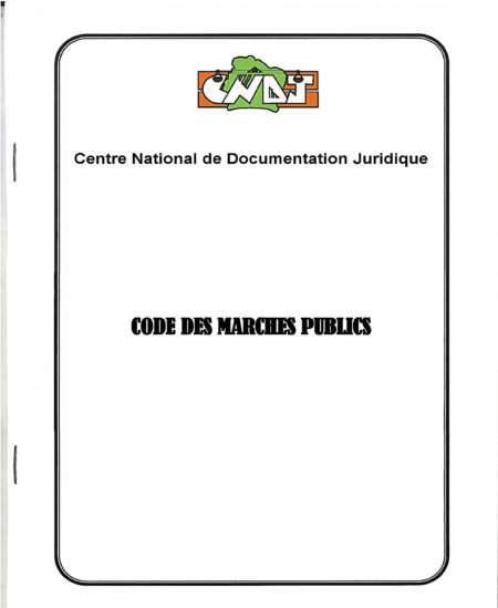 Code des marchés publics –Côted'Ivoire